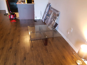 Great glass coffee table