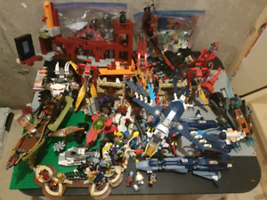 Lego lot with lego table for building. 13+ sets