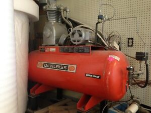 For paint shop industrial size compressor 5 HP