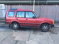 Red land rover discovery 7 seater . will swap or part ex for car