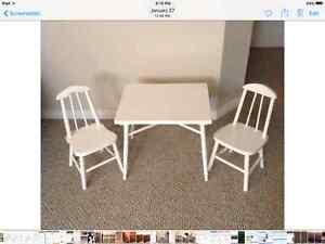 Childs table and chairs (2)
