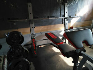 Brand New Olympic Bench, Weights, Rack & Accessories