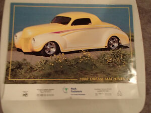 2000 DREAM MACHINES Car 16 Month CALENDAR. Issued by HUCK Fasten