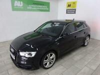BLACK AUDI A3 2.0 TDI S LINE ***FROM £196 PER MONTH***