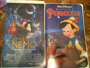 VHS tapes,  Pinocchio and Nemo