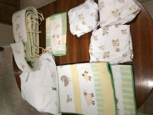 Pottery Barn Cottontail Friends Baby Crib Bedding Set