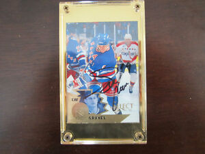 Adam Graves Autographed Select Hockey Card # 48 EX/NM/MINT