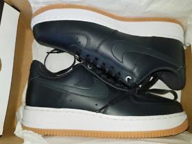 Size 7 Mens. Nike Air Force 1. Brand New. Black White Gum.