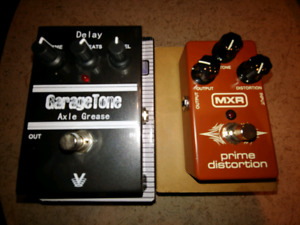 Delay and Distortion Pedals