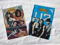 2 VERY RARE 1993 Rock N Roll Comics. U2. AND WOMEN IN ROCK NO.1 By Revolutionary Comics.