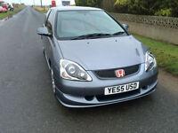 2005 55 Honda Civic 2.0i-VTEC Type R Petrol Grey 3 Door.