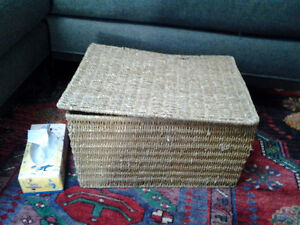 Wicker box (cracked, but usable)