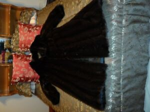 near new XL Dark Cord Cut Mink Coat (real Mink)
