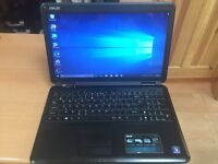 Quick 4GB Asus HD laptop 250GB window10, Microsoft office, ready to use, excellent condition