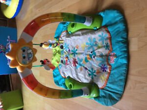 Exersaucer and light up play mat