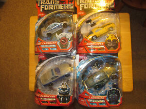 4 Transformers First Movie Figures MOSC