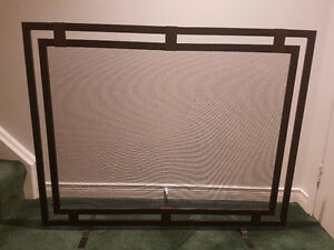 Fireplace screen and accessories