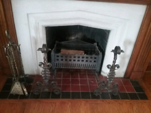 Antique Andiron Fire Dogs