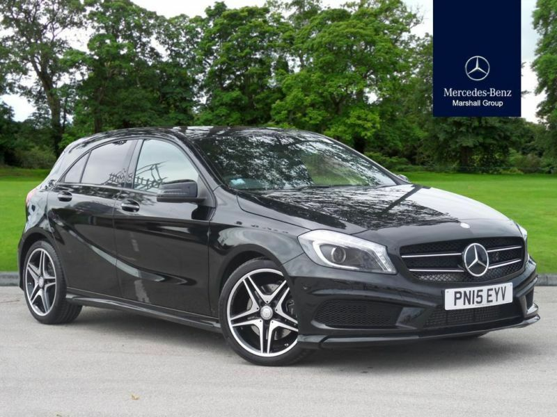 2015 mercedes benz a class a class diesel hatchback a220 cdi am diesel black aut in bolton. Black Bedroom Furniture Sets. Home Design Ideas