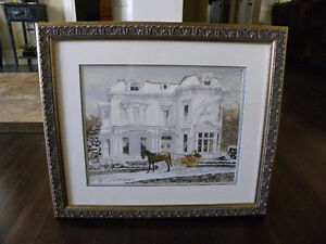 Reduced - Picture of Castle with horse & carriage