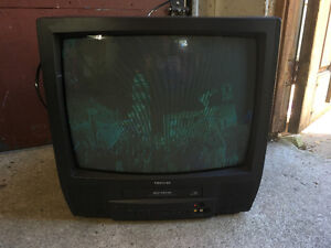 Small tv with VHS