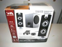 Cyber Acoustics 30 Watt Powered Speakers with Subwoofer - New