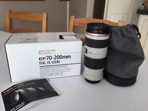 Canon EF 70-200mm F4L IS USM Zoom Lens