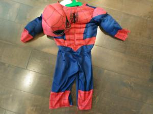 Costume d'Halloween spiderman 2T
