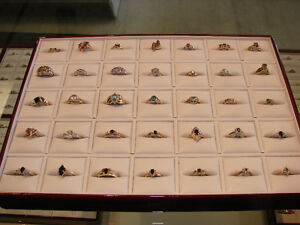 ** GOOD SELECTION OF GEMSTONE RINGS FOR SALE **