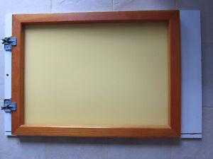 Large Screen Printing Frame with Hinge Clamps, Squeegee - $110