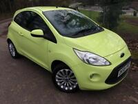 2009/59 Ford Ka 1.2 Zetec, Yellow, Only 39k miles, Service History, HPI Clear