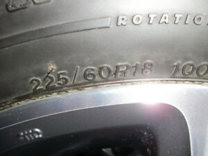 4-Winter tires 225/60r/18 on Honda factory mags w/censors