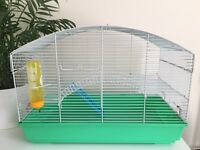 Hamster Cage with Two Tiers and Bridge