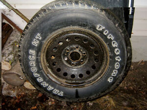 Firestone Transforce HT Rim and Tire
