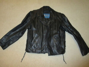 Men's Xelement Black Leather (motorcycle) jacket