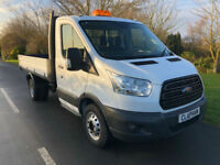 2015 65 FORD TRANSIT TIPPER 350 2.2TDCI 125BHP RWD S/C 1 OWNER ANY UK DELIVERY