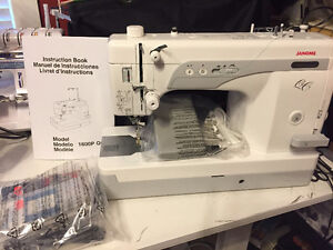 New Janome 1600P QC and Used Inspira Quilting Frame