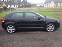 Audi A3 3 door black