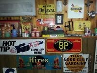 Vintage Oil & Gas and Soda Pop items and much more...NEW STUFF!!