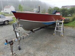 19' aluminum boat with console