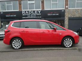 2014 Vauxhall Zafira Tourer 2.0CDTi 16v ( 130ps ) SE 5DR 64 REG Diesel Red