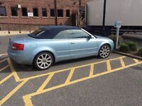 2005 54reg Audi A4 Convertible Sport 2.5 Tdi Automatic Blue Top Spec