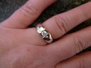 925 Sterling Engagement/Wedding Band CZ