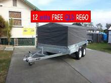10×6ft TANDEM AXLE BOX TRAILER 900MM CAGE CANVAS COVER  FREE RGO Leeton Leeton Area Preview
