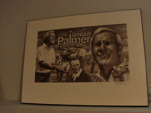 RARE Arnold Palmer Artwork Plaque Collectible