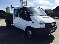 Ford transit crewcab tipper no vat !