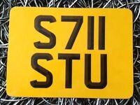 Stu private number plate reg