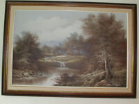 VINTAGE OIL PAINTING SIGNED AND FRAMED, ALMON BALDWIN