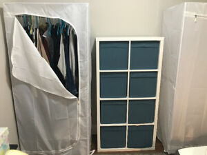 IKEA kallax shelf unit.