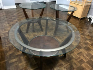 Centra table and 2 side table - set